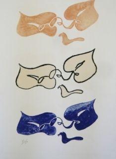 Litografía Braque - Tirée de La liberté des mers