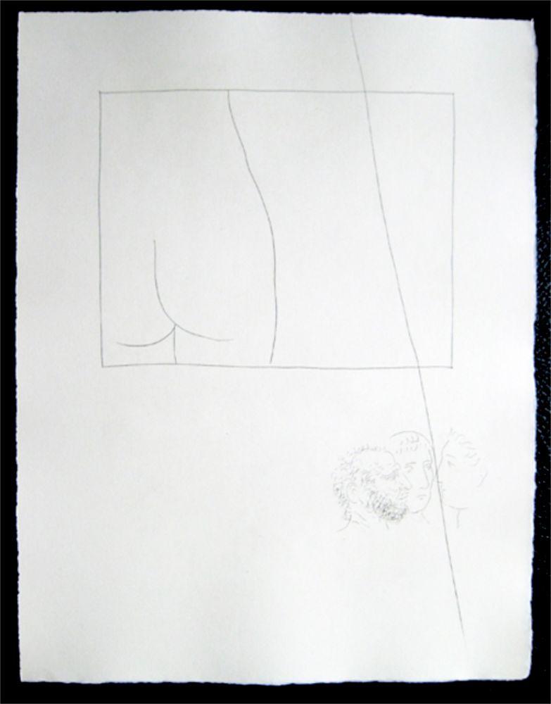 Grabado Picasso - Title:Fragment de corps de femme  Fragment of a woman's body
