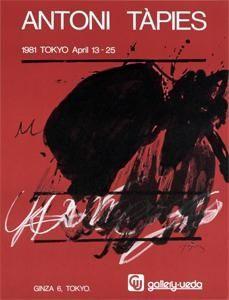Cartel Tàpies - Tokyo. April 13-25. Gallery Ueda