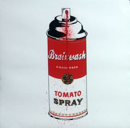 Serigrafía Mr Brainwash - Tomato Spray Can
