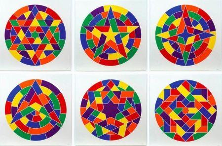Linograbado Lewitt - Tondo Stars Set of 6