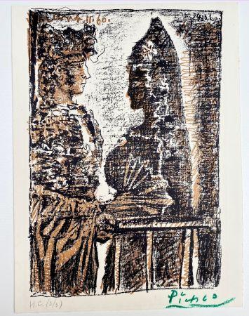 Litografía Picasso - Torero y Señorita