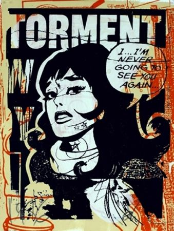 Serigrafía Faile - Torment in Orange