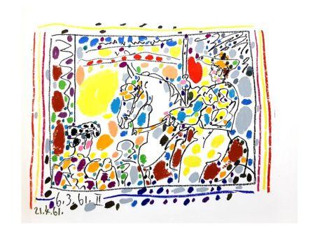 Litografía Picasso - Toros