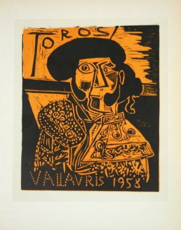 Litografía Picasso (After) - Toros  1958