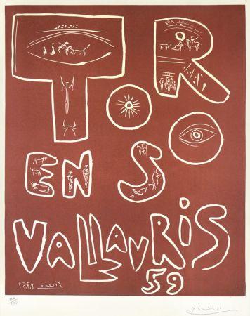 Linograbado Picasso - Toros En Vallauris, 1959