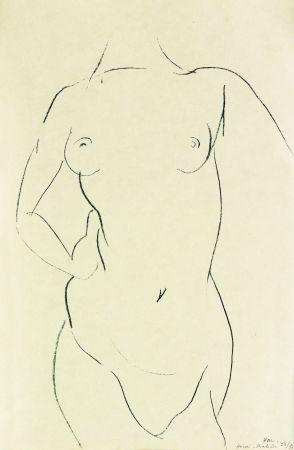 Litografía Matisse - Torse de face