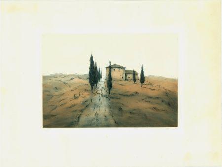 Aguafuerte Y Aguatinta Gortner - Toskanische Landschaft / Tuscan Landscape
