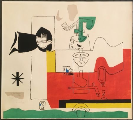Litografía Le Corbusier - Totem (hand-signed & numbered)