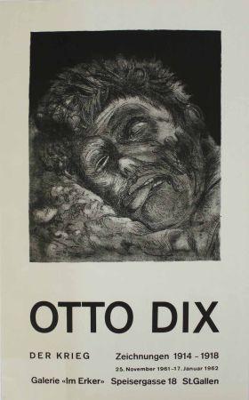 Litografía Dix - Toter (St. Clément) [Dead Man (St. Clément)]