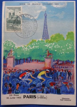 Litografía Van Dongen - Tour de France 1955