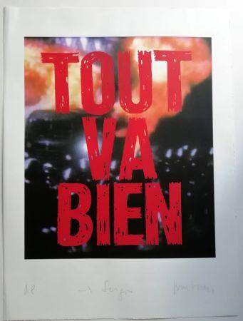 Serigrafía Muntadas - Tout va Bien