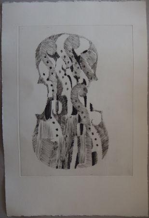 Punta Seca Arman - Traité du Violon - 10 gravures