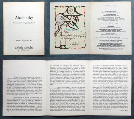 Litografía Alechinsky -