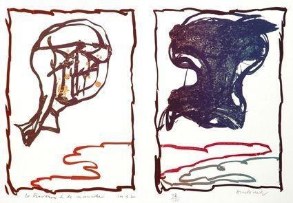Litografía Alechinsky - Traversée De La Manche