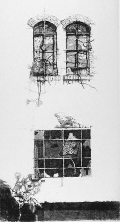 Aguafuerte Vespignani - Tre finestre