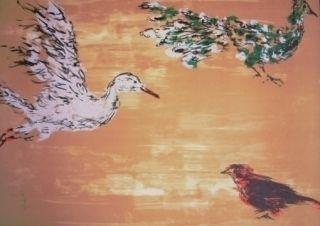Litografía Tian-Tian - Treasure birds 1