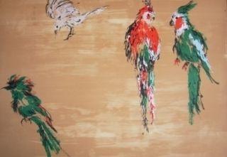 Litografía Tian-Tian - Treasure birds 2