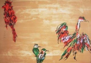 Litografía Tian-Tian - Treasure birds 3