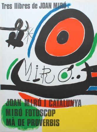 Litografía Miró - Tres llibres de Joan Miró