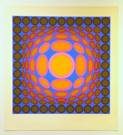 Serigrafía Vasarely - Tri-Vega