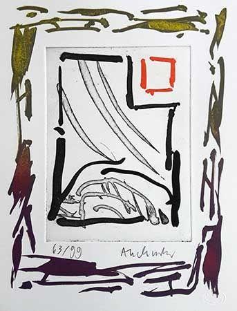Grabado Alechinsky - Triades