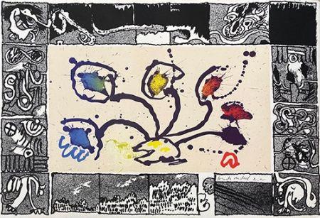 Litografía Alechinsky - Tribord