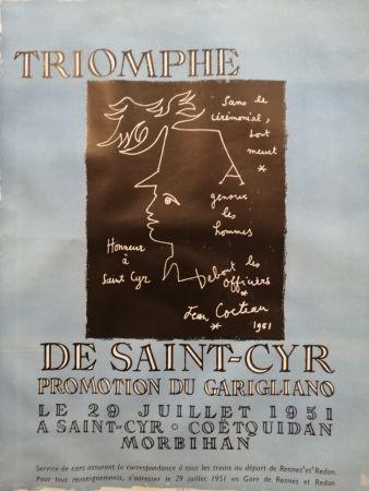 Cartel Cocteau - Triomphe de Saint Cyr - Promotion du Garigliano -