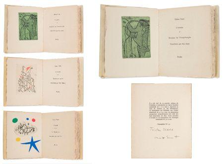 Libro Ilustrado Ernst - Tristan Tzara. L'ANTITÊTE.  Max Ernst, Yves Tanguy, Joan Miro (3 vols. Paris, 1949)