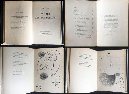 Libro Ilustrado Miró - Tristan Tzara. L'ARBRE DES VOYAGEURS. Orné de quatre lithographies de Joan Miró.