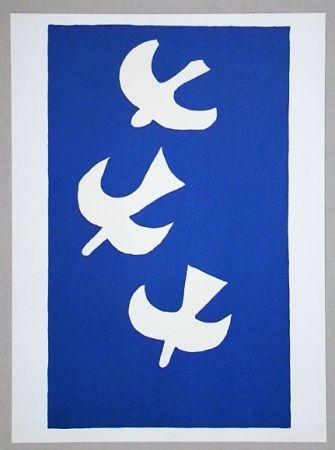 Litografía Braque (After) - Troi oiseaux