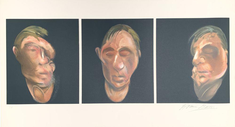 Litografía Bacon - Trois études pour un autoportrait