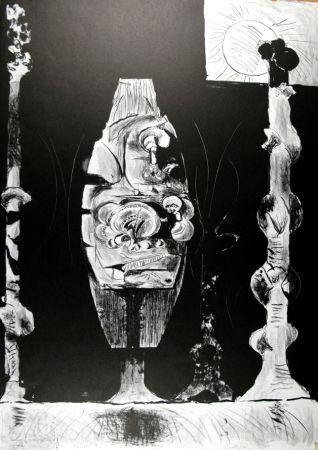 Litografía Sutherland - Trois formes debout