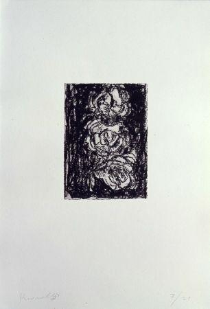 Litografía Kounellis - Trpois roses
