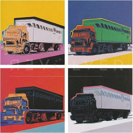 Serigrafía Warhol - Truck, Complete Portfolio (Fs Ii.367-Ii.370)