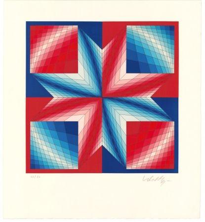 Litografía Vasarely - Tsillag