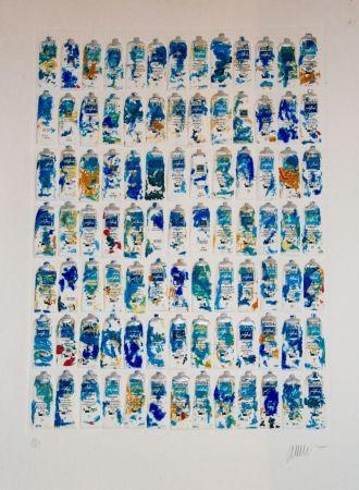 Aguatinta Arman - Tubes Bleus
