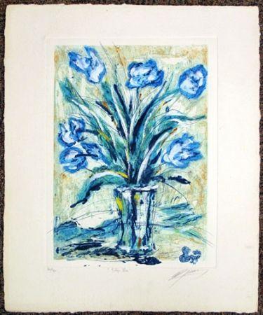 Grabado Guiny - Tulipe Bleu