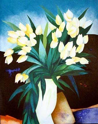 Litografía Gaveau - Tulips