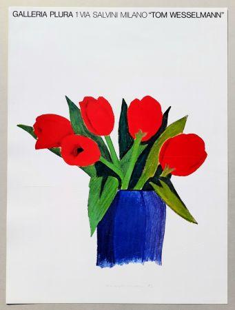 Litografía Wesselmann - Tulips in a vase