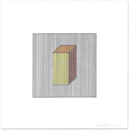 Serigrafía Lewitt - Twelve Forms Derived from a Cube (Set of 48) (2)