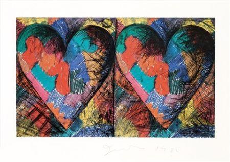 Litografía Dine - Two Louisiana Hearts