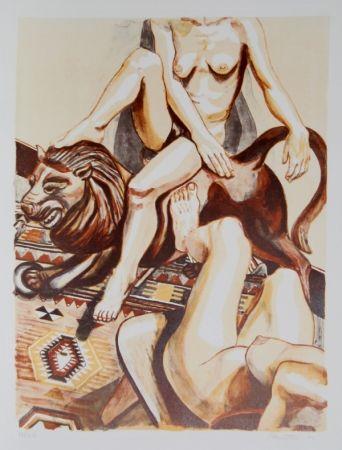 Litografía Pearlstein - Two Nude Women