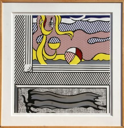 Grabado En Madera Lichtenstein - Two Paintings: Beach Ball