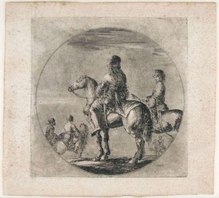 Grabado Della Bella - TWO POLISH HORSEMEN