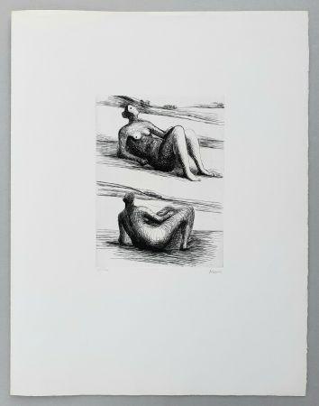 Grabado Moore - Two reclining figures