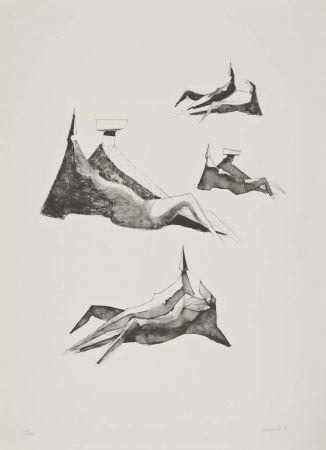 Litografía Chadwick - Two seating figures II