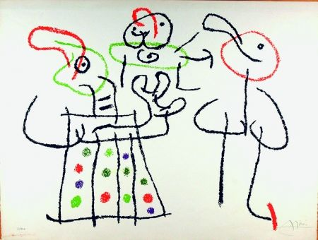 Litografía Miró - Ubu aux Baléares