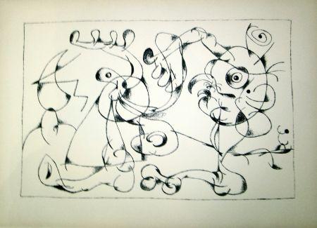 Litografía Miró - Ubu Roi (1st state in Black and White)