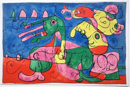 Litografía Miró - UBU ROI : CHEZ LE TZAR (1966).